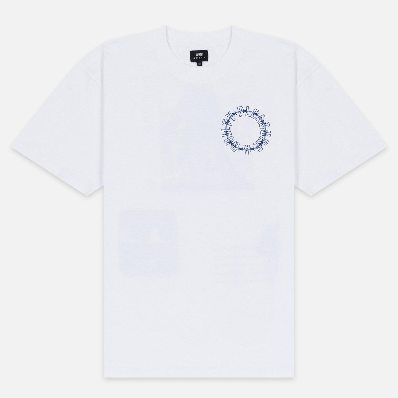 Мужская футболка Edwin Altered Fantasy Garment Wash White