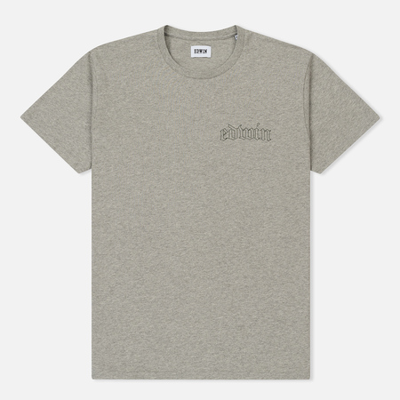 Мужская футболка Edwin Best Or Nothing Grey Marl Garment Washed