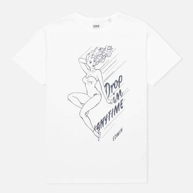 Edwin Drop In Anytime Men's T-shirt White