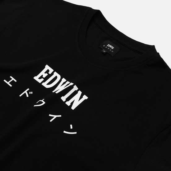 Мужская футболка Edwin Edwin Japan Black Garment Washed