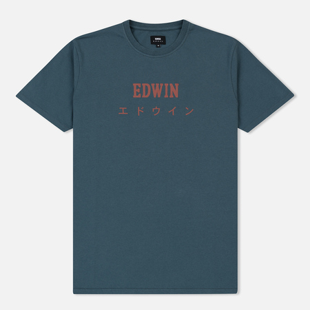 Мужская футболка Edwin Edwin Japan Dark Slate Garment Washed