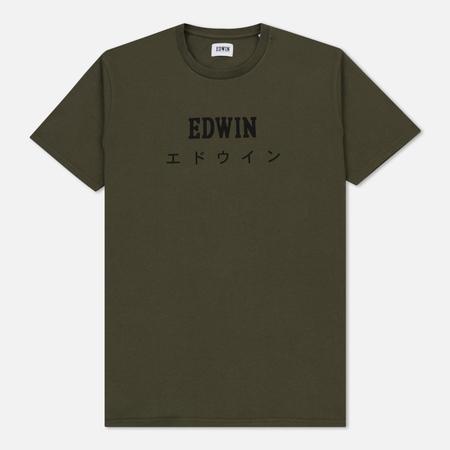 Мужская футболка Edwin Edwin Japan Olive Drab
