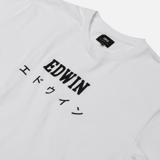 Мужская футболка Edwin Edwin Japan White Garment Washed