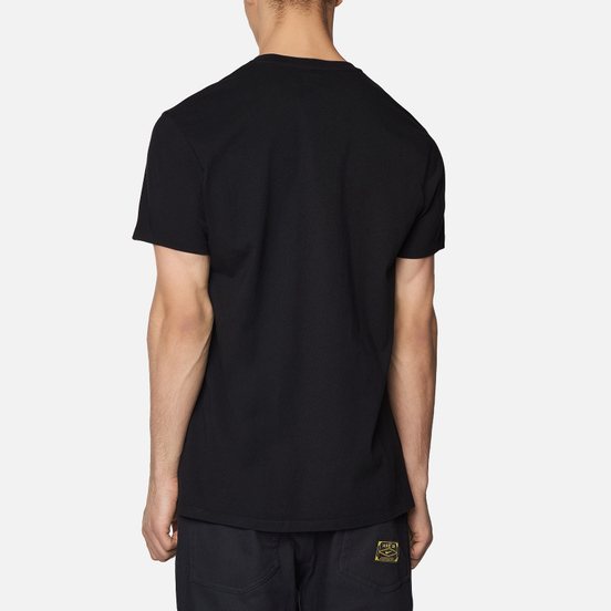 Мужская футболка Edwin Edwin Logo Chest Black Garment Washed