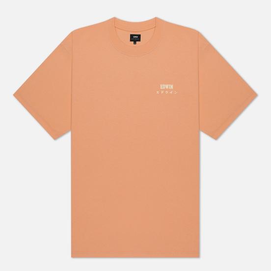 Мужская футболка Edwin Edwin Logo Chest Cantaloupe Garment Wash