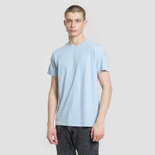 Мужская футболка Edwin Edwin Logo Chest Coole Blue Garment Washed фото- 1