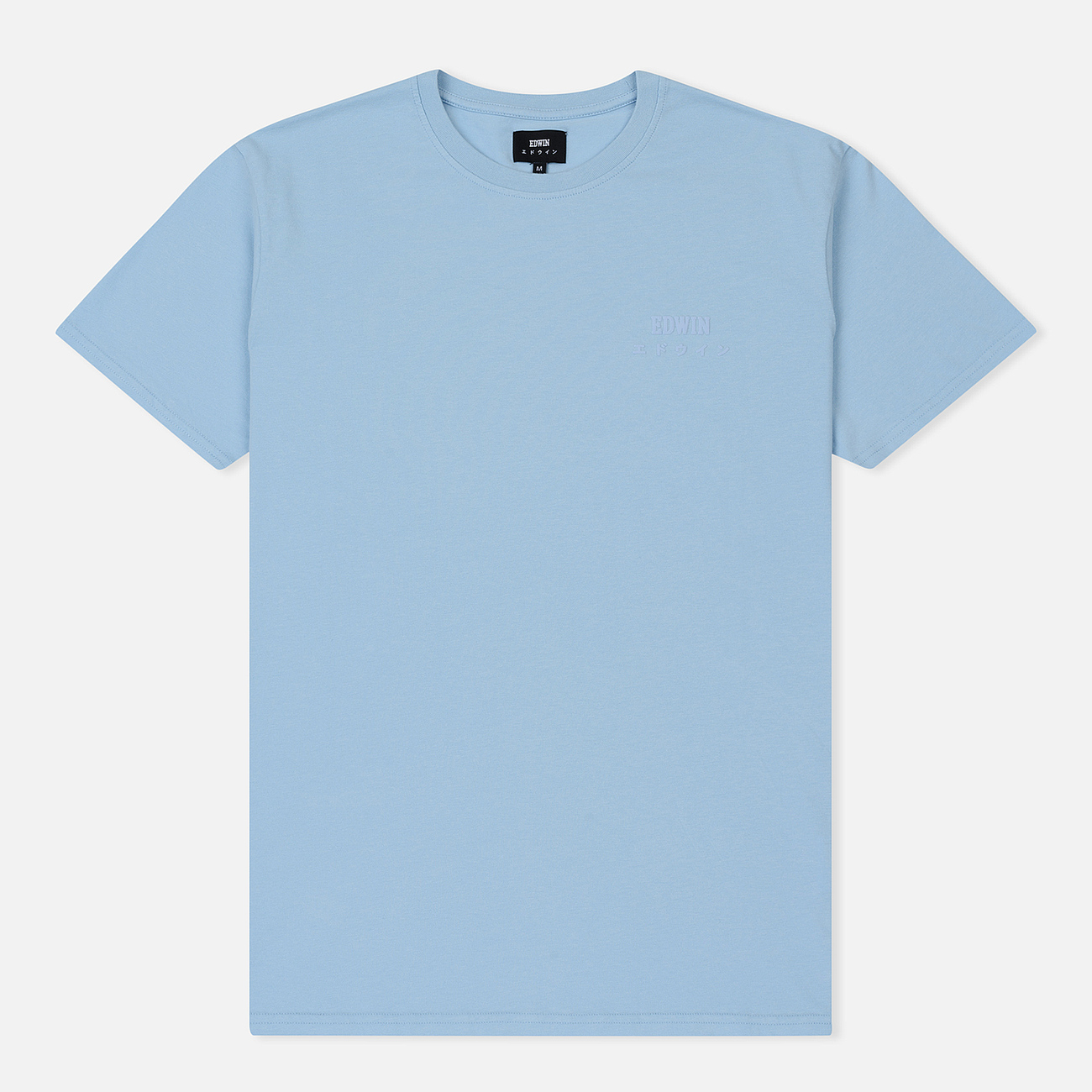 Мужская футболка Edwin Edwin Logo Chest Coole Blue Garment Washed
