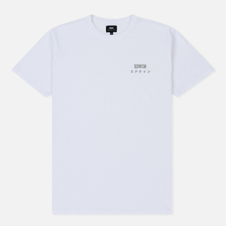 Мужская футболка Edwin Edwin Logo Chest White Garment Washed