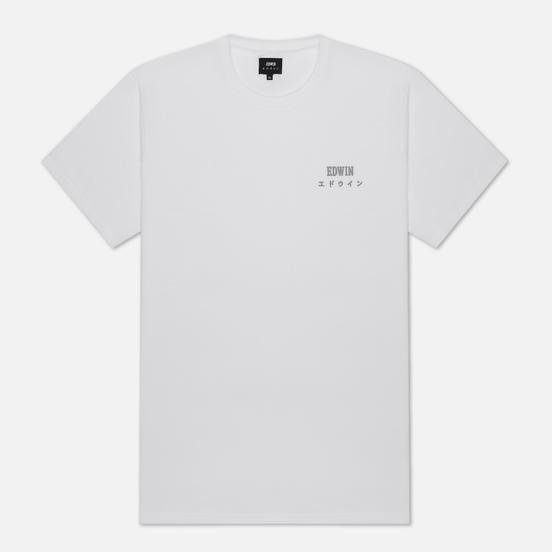 Мужская футболка Edwin Edwin Logo Chest White Garment Washed