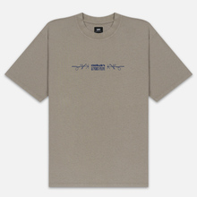 Мужская футболка Edwin Hazy Dreams III Garment Dyed Faded Out Moon Rock фото- 0