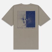 Мужская футболка Edwin Hazy Dreams III Garment Dyed Faded Out Moon Rock фото- 3