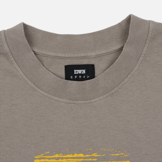 Мужская футболка Edwin Hazy Dreams IV Garment Dyed Faded Out Moon Rock