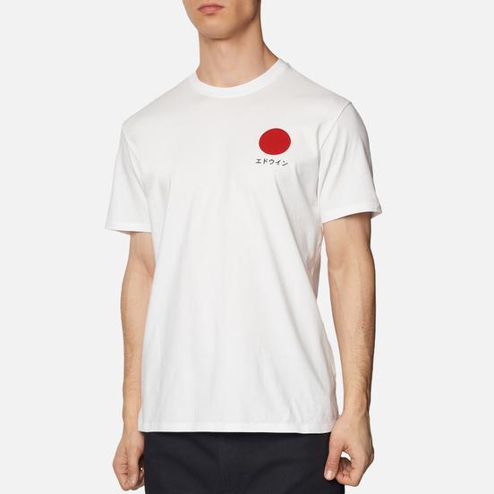 Мужская футболка Edwin Japanese Sun White Garment Washed