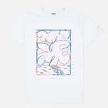 Мужская футболка Edwin Jordy Flower White фото- 0