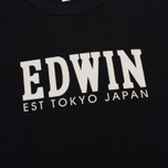 Мужская футболка Edwin Logo Type 2 Black фото- 2