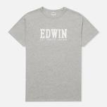 Edwin Logo Type 2 Men's T-shirt Grey Marl photo- 0