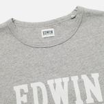 Edwin Logo Type 2 Men's T-shirt Grey Marl photo- 1