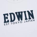 Мужская футболка Edwin Logo Type 2 White фото- 2