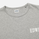 Edwin Logo Type 4 Men's T-shirt Grey Marl photo- 1