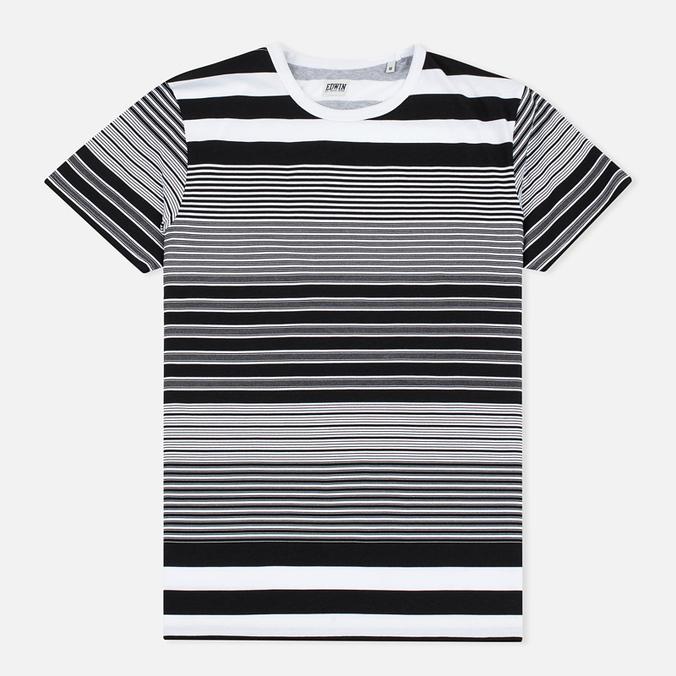 Мужская футболка Edwin Mixed Stripes Jersey Black