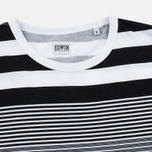 Мужская футболка Edwin Mixed Stripes Jersey Black фото- 1