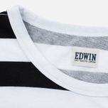 Мужская футболка Edwin Mixed Stripes Jersey Black фото- 2