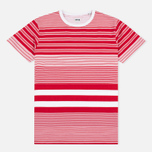 Мужская футболка Edwin Mixed Stripes Jersey Red фото- 0