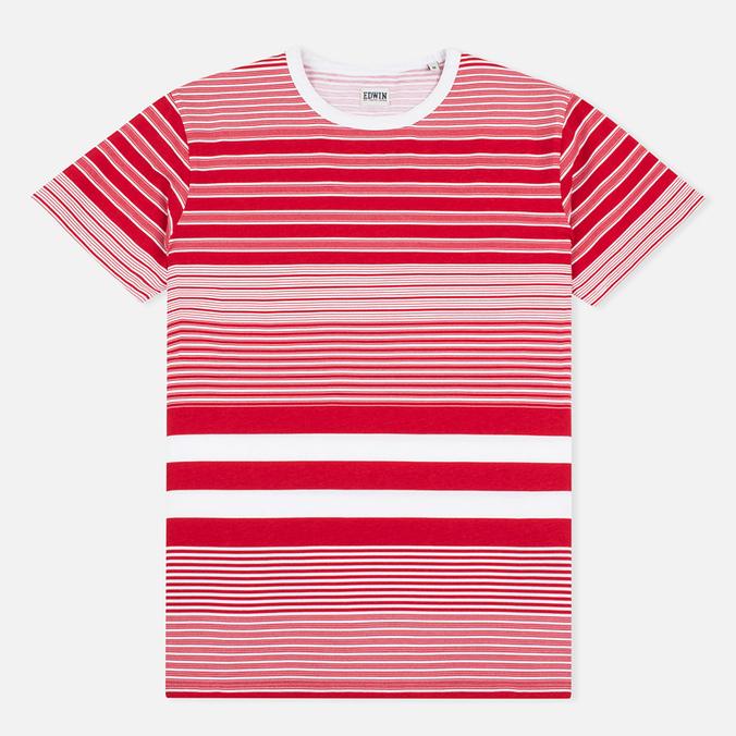 Мужская футболка Edwin Mixed Stripes Jersey Red