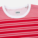Мужская футболка Edwin Mixed Stripes Jersey Red фото- 1
