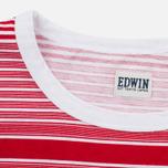 Мужская футболка Edwin Mixed Stripes Jersey Red фото- 2