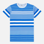Мужская футболка Edwin Mixed Stripes Jersey Royal Blue фото- 0