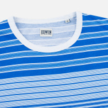 Мужская футболка Edwin Mixed Stripes Jersey Royal Blue фото- 1