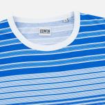 Мужская футболка Edwin Mixed Stripes Jersey Royal Blue фото- 1