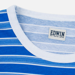 Мужская футболка Edwin Mixed Stripes Jersey Royal Blue фото- 2