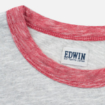 Edwin National Men's T-shirt Light Grey Marl photo- 2