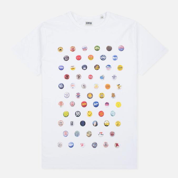 Мужская футболка Edwin Pin Polka White