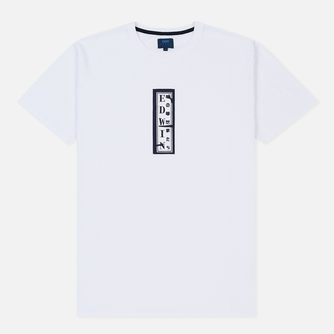 Мужская футболка Edwin Signboard White Garment Washed