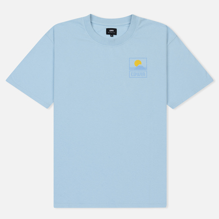 Мужская футболка Edwin Sunset On Mount Fuji Cool Blue Garment Washed