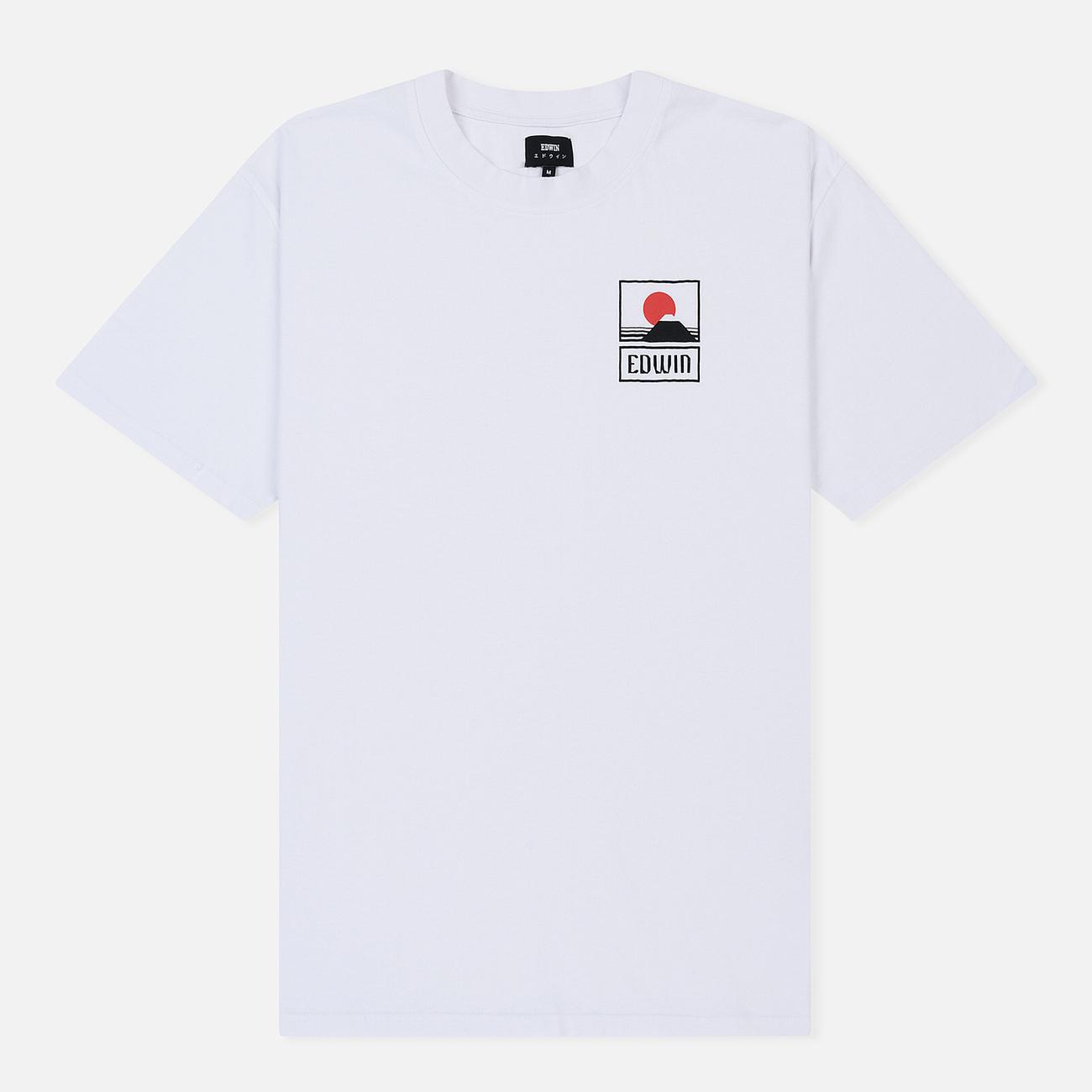 Мужская футболка Edwin Sunset On Mount Fuji White Garment Washed