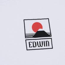 Мужская футболка Edwin Sunset On Mount Fuji White Garment Washed фото- 2