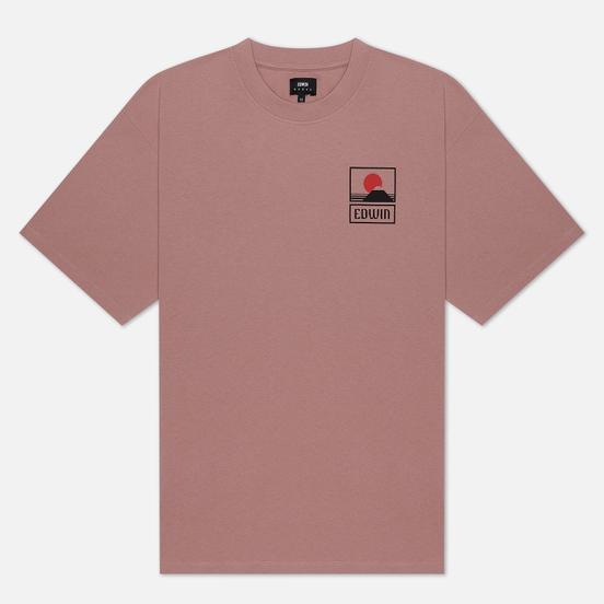Мужская футболка Edwin Sunset On Mount Fuji Woodrose Garment Wash