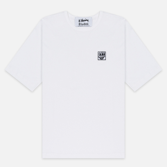 Мужская футболка Etudes x Keith Haring Unity Patch White