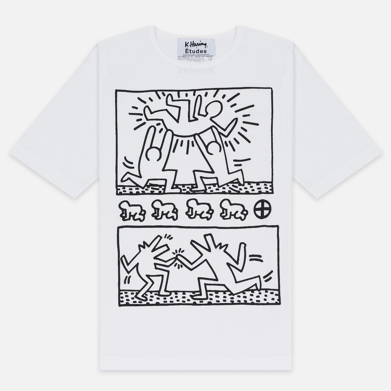 Мужская футболка Etudes x Keith Haring Unity White