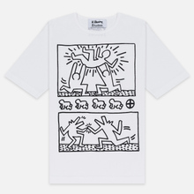 Мужская футболка Etudes x Keith Haring Unity White фото- 0