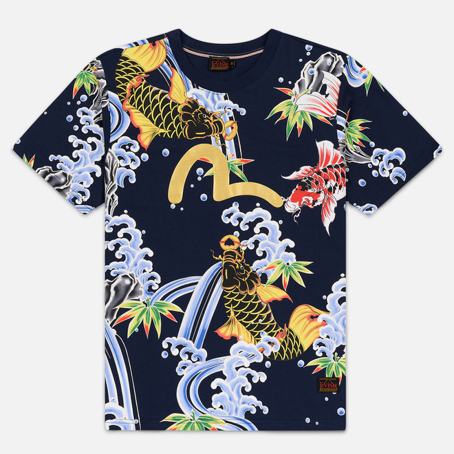 Мужская футболка Evisu All Over Digital Printed Multicolor