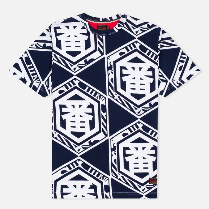 Evisu Allover Ichiban Men's T-Shirt Blue