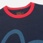 Мужская футболка Evisu Blue Seagull Slogan Indigo фото- 2