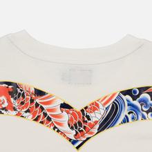Мужская футболка Evisu Carp Pattern All Over Printed Daicock Off White фото- 4