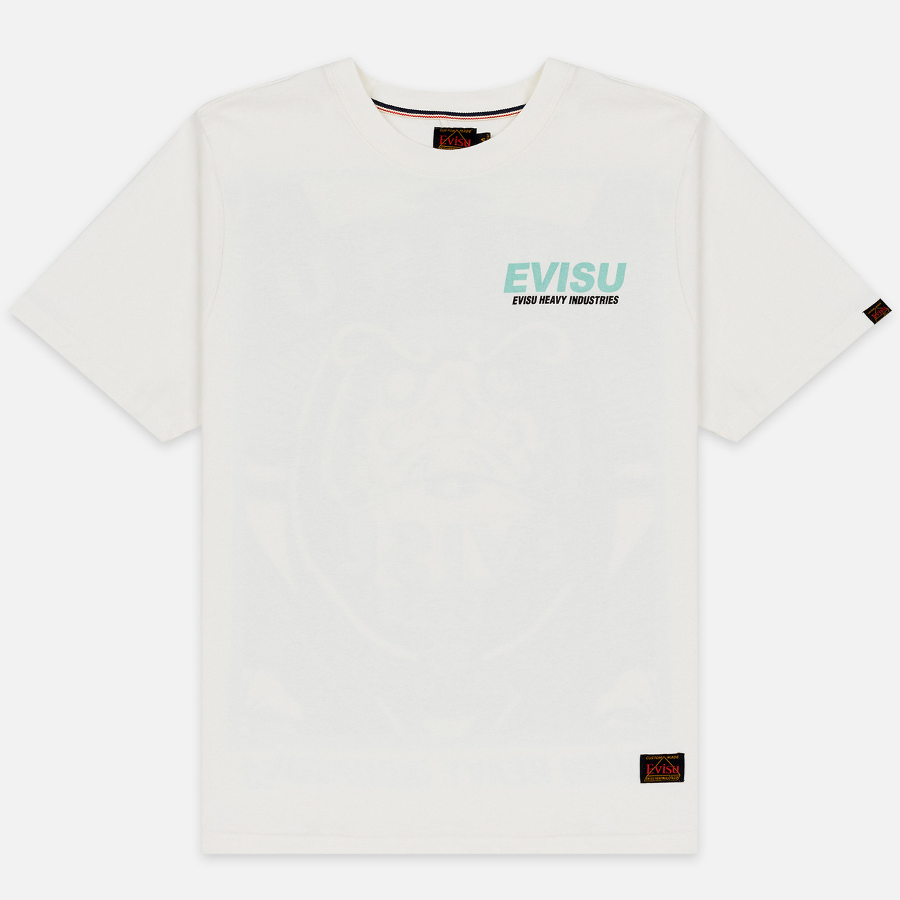 Мужская футболка Evisu Daruma Poster Printed Off White