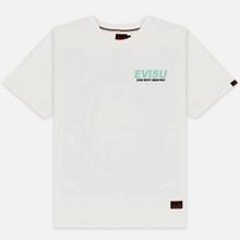 Мужская футболка Evisu Daruma Poster Printed Off White фото- 0
